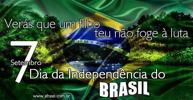 A Frase 7 De Setembro Dia Da Independência Do Brasil