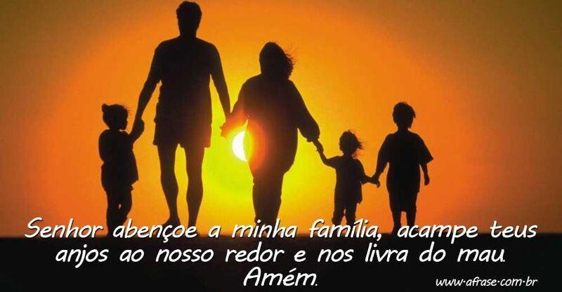 A Frase Senhor Abençoe A Minha Família