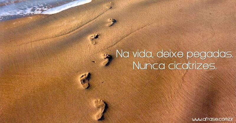 Conhecido A Frase - Deixa pegadas na praia da vida LF28