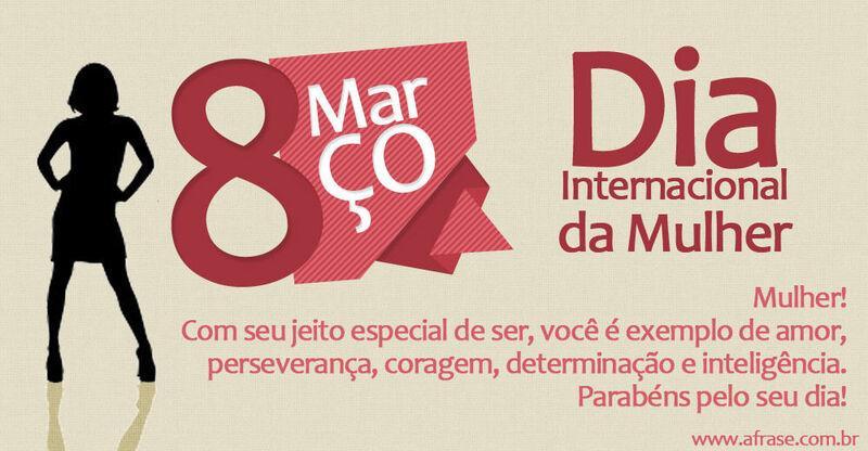 A Frase 8 De Março Dia Internacional Da Mulher
