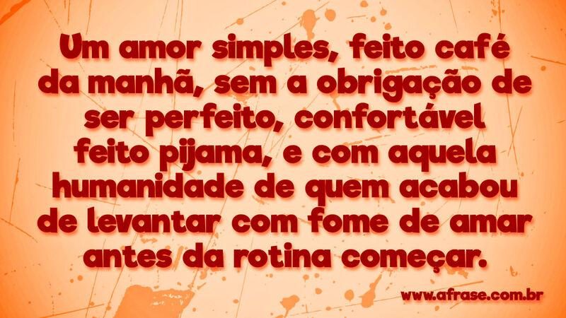 A Frase Amor Simples