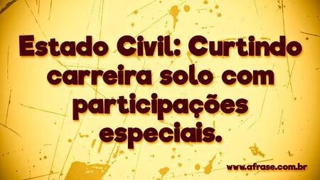 Estado Civil: Curtindo carreira solo ... Frases de Humor.