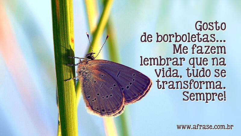 A Frase Gosto De Borboletas
