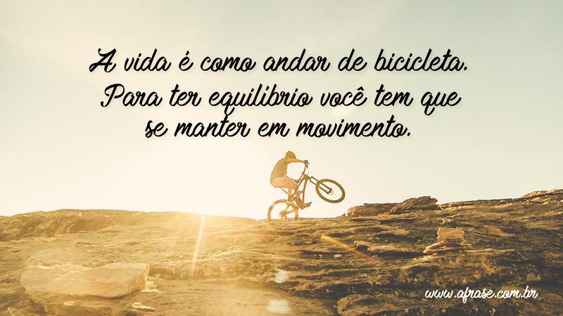 A Frase Como Andar De Bicicleta